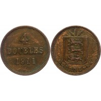 Гернси 4 Дубля 1911 H год VF KM# 5 (КОЮ) (#ФР-00118543)