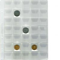 """Лист """"Эконом"""" для хранения монет на 35 ячеек с """"клапанами"""", Стандарт """"Optima"""". 10 штук."""