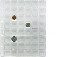 """Лист """"Эконом"""" для хранения монет на 48 ячеек с """"клапанами"""", Стандарт """"Optima"""". 10 штук."""