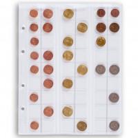 Листы для 54 монет Leuchtturm (Германия).  Скользящие. Формат Optima. 5 шт.
