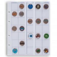 Листы для 35 монет, Leuchtturm (Германия). Скользящие. Формат Optima. 1 шт.