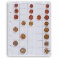 Листы для 40 монет Leuchtturm (Германия).  Скользящие. Формат Optima. 5 шт.