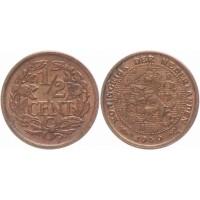 НИДЕРЛАНДЫ 1/2 цента 1940