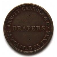 ВЕЛИКОБРИТАНИЯ / НЬЮКАСЛ 1 фартинг 1848-1860 МАГАЗИН ОДЕЖДЫ «DRAPERS - ARNOTT, CANNOCK & CO»