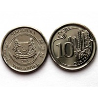 СИНГАПУР 10 центов 2013 UNC!! ЖИЛИЩНОЕ СТРОИТЕЛЬСТВО