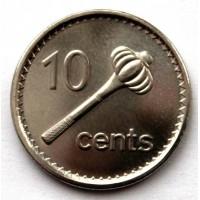 ФИДЖИ 10 центов 2009 ( KM# 120) UNC!! МЕТАТЕЛЬНАЯ ДУБИНКА