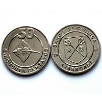АНГОЛА / КАБИНДА 50 сентаво 2001 UNC!! РЫБА СКАТ