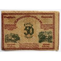 АВСТРИЯ / КРУМНУСБАУМ 50 геллеров 1920