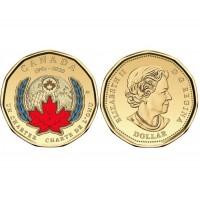 КАНАДА 1 доллар 2020 UNC «75 ЛЕТ ООН» цветная