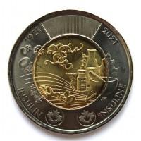 КАНАДА 2 доллара 2021 UNC «100 ЛЕТ ОТКРЫТИЯ ИНСУЛИНА»