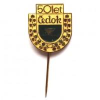 ЧЕХОСЛОВАКИЯ 1970 знак на игле «ČEDOK» 50 ЛЕТ ОБРАЗОВАНИЯ