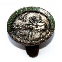 АВСТРИЯ (ВЕНА) знак-френчик «FORSTVEREIN WIEDER OSTERREICH WIEN» ЛЕСНОЙ КЛУБ (1900-е года) ОЛЕНЬ