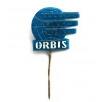 ПОЛЬША (ПНР) знак на игле «POLSKIE BIURO PODROZY «ORBIS» ПОЛЬСКОЕ ТУРИСТИЧЕСКОЕ АГЕНСТВО