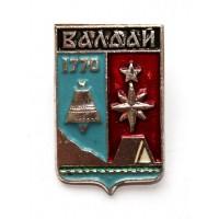 СССР сувенирный нагрудный знак «ГЕРБЫ ГОРОДОВ СССР» ВАЛДАЙ