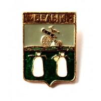 СССР сувенирный нагрудный знак «ГЕРБЫ ГОРОДОВ СССР» БЕЛЫЙ