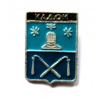 СССР сувенирный нагрудный знак «ГЕРБЫ ГОРОДОВ» КАДОМ (Тамбовская серия) УЛЕЙ и ПЧЕЛЫ