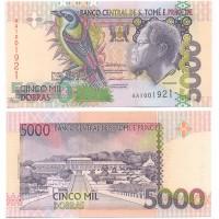 Сан-Томе и Принсипи 5000 Добрас 1996 год UNC P# 65a