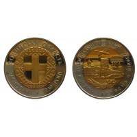 Украина 5 гривен (биметалл) 2014 год UNC KM# 745 75 лет Волынской области