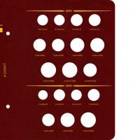 Лист № 7 для альбома «Монеты РФ регулярного выпуска с 1997 года». Серия по годам. Том 2 (2006–2014)