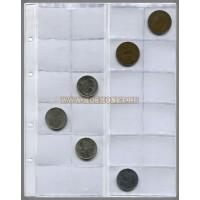 Лист для 24 монет Mosmonet (Россия). Улучшеный. Скользящие. Формат Optima. 1 шт.