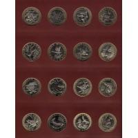 Полный комплект монетовидных жетонов Красная книга СССР 2016 - 2021, 29 шт. UNC