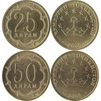 Комплект 25 и 50 дирам 2006, НЕМАГНИТНЫЕ