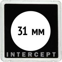 QUADRUM Intercept 50х50 мм, с вырезом для монеты D 31 mm