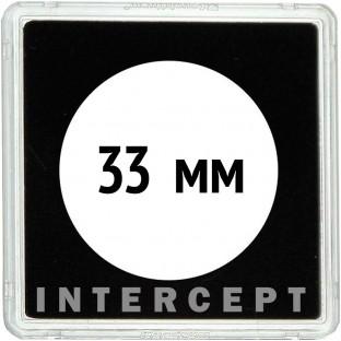 Квадратная капсула QUADRUM Intercept 50х50 мм, с вырезом для монеты D 33 mm