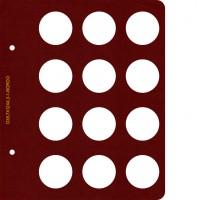 Лист для монет диаметром 38,7 мм (12 ячеек)