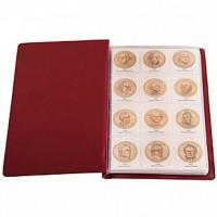 Альбом малый для президентских монет США 1$ с промежуточными листами с изображениями монет