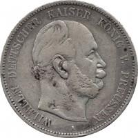 Германская империя, 5 марок 1876 А