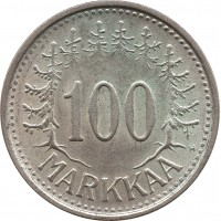 Финляндия 100 марок 1956 H