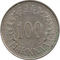 Финляндия 100 марок (markkaa) 1958 H