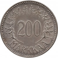 Финляндия 200 марок (markkaa) 1957 H