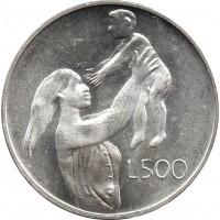 Сан-Марино 500 лир 1972. Мать и дитя.