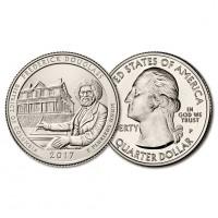 США 25 центов 2017 год. Прекрасная Америка (Парки). Исторический музей Ф. Дугласа (37)