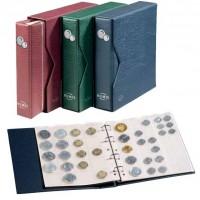 Альбом NUMIS, включая слипкейс и 5 листов для монет, зеленый