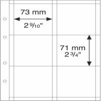 Лист OPTIMA на 6 монет до 67 мм (Холдеры XL), Leuchtturm, 5 штук
