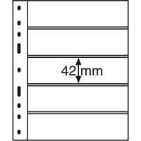 Листы для 5 бон, Leuchtturm (Германия). Формат Optima. 1 шт.